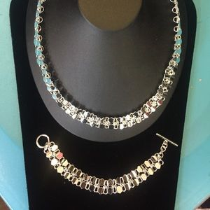Jewelry - SALE! Silver plated necklace and bracelet set 001